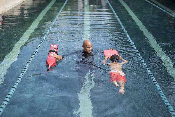 Learning about the ocean starts early, with swim lessons
