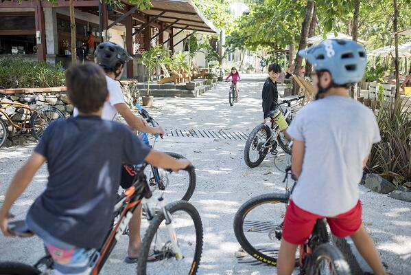 Having too much fun is the only concern children worry about in this pedestrian town in Costa Rica