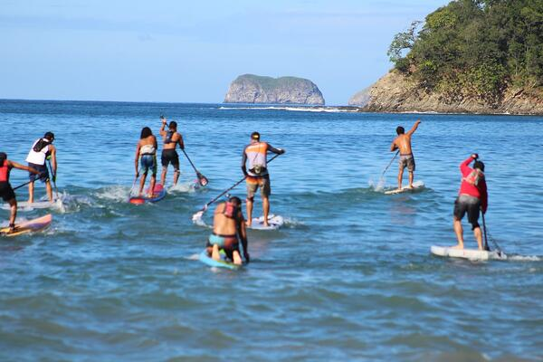 The Pura Vida Ride Paddle Battle is the town's oldest running athletic event.