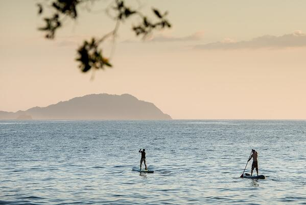 Venture out with the family to explore the calm waters of the bay off of Playa Danta on a kayak or paddle board