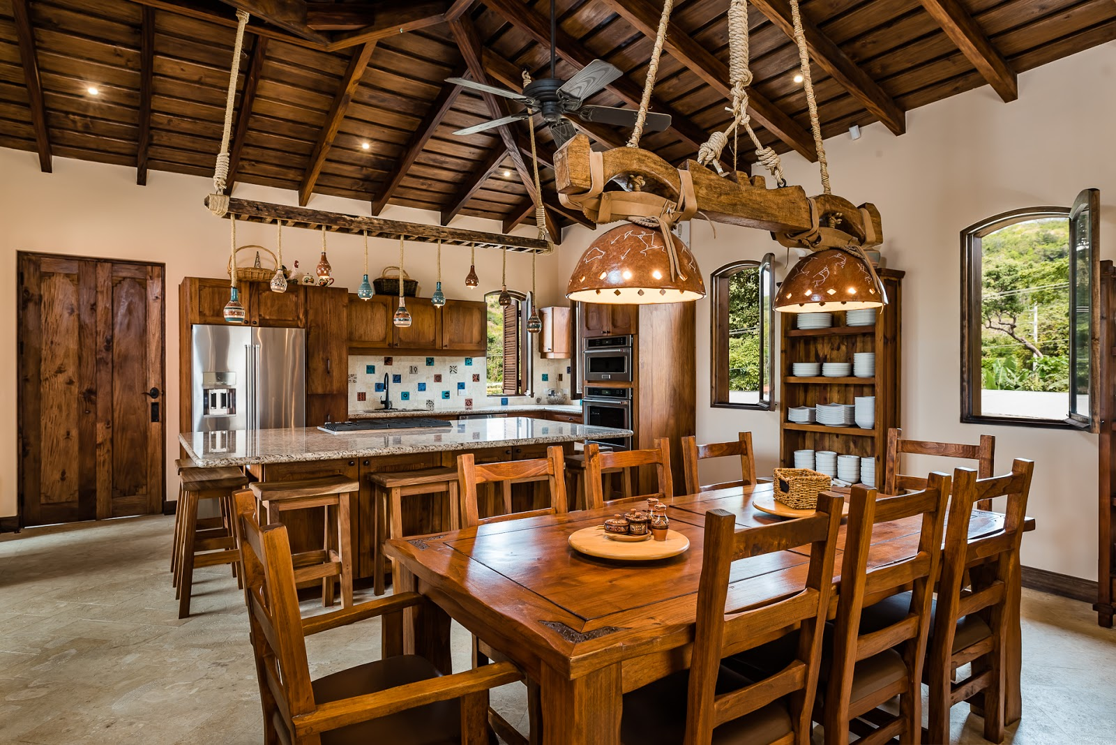 Casa Maya's in-home dining for up to 18 is ideal for hosting pre-race dinners to keep the whole team in peak condition.