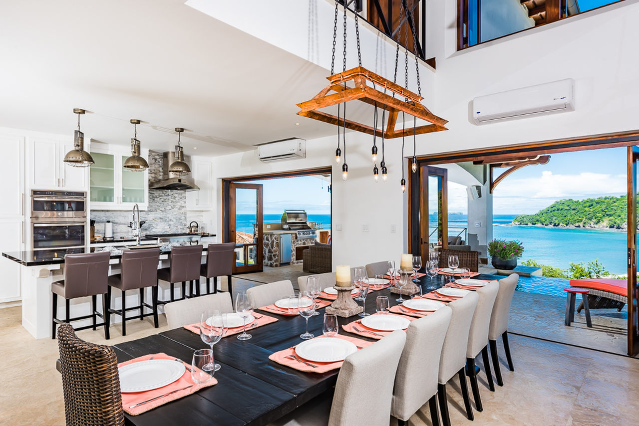 Villa del Sol's panoramic views, indoor-outdoor social space, and full cooking/grilling environment makes it a suitable location to host a post-race celebration