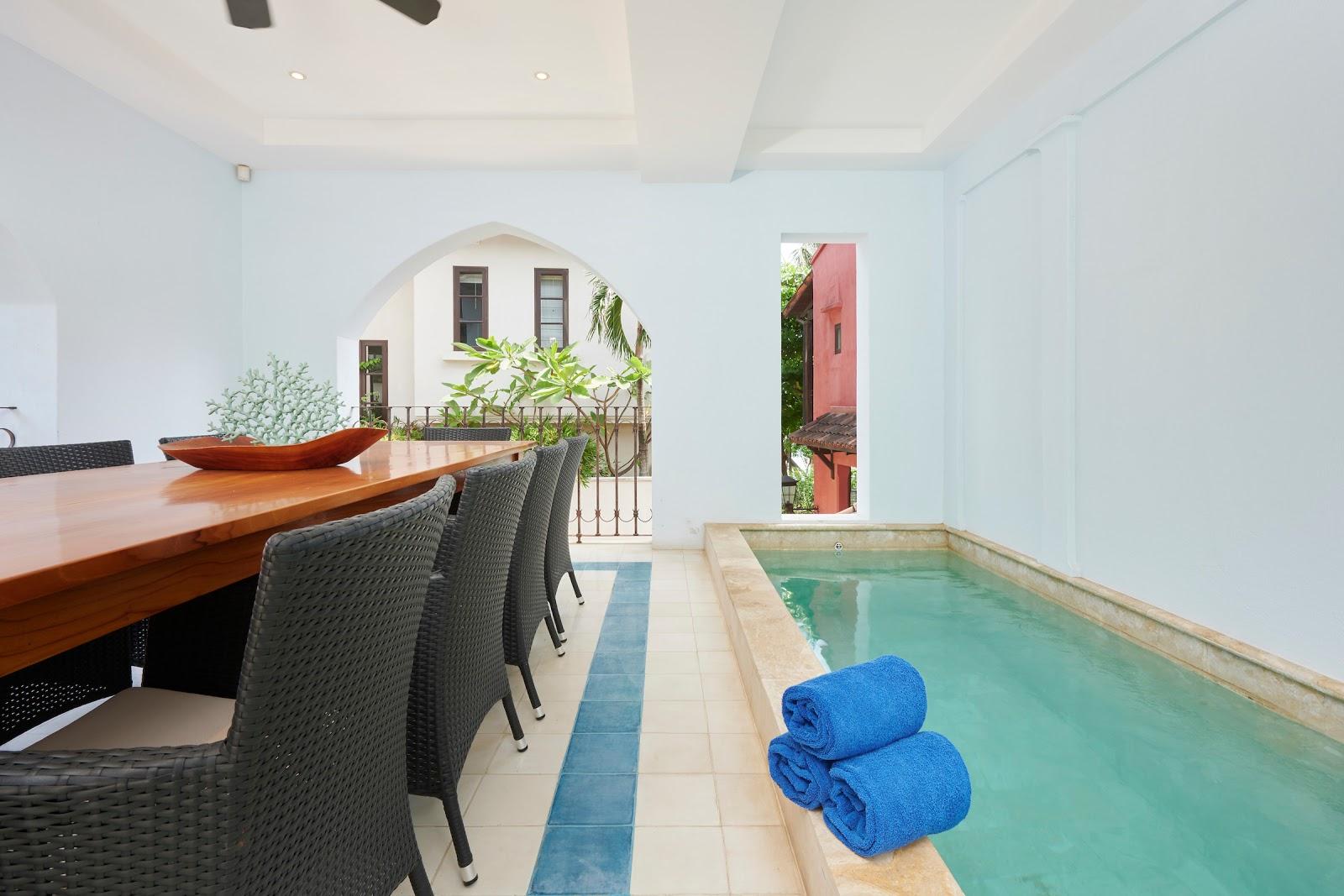 Casa Cazenovia's lap pool is a versatile space for a few warm up laps.